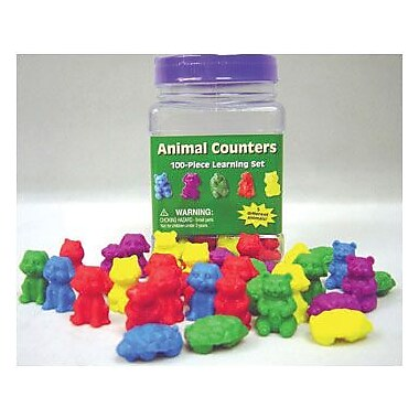 Eureka Animal Counters Tubbed, 100/Pack (EU-867470)