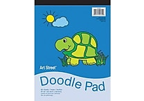 Pacon® Art Street® White Doodle Pad, 12' x 9'
