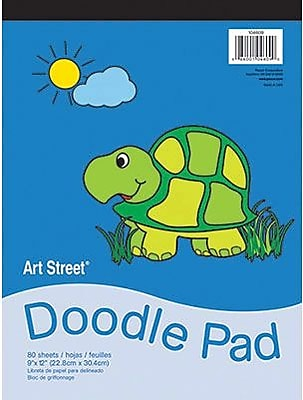 Pacon® Art Street® White Doodle Pad, 12