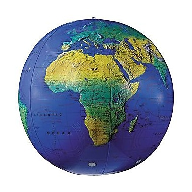 Replogle Globes Inflatable Topographical Globe, 12