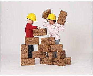 Smart Monkey® Giant Timber Building Block Set, 16/Set