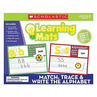 Scholastic Teacher's Friend Match, Trace And Write The Alphabet Learning Mat, Grade Pre K - 3 (TF-7107)