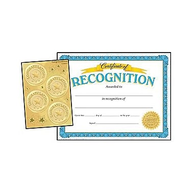 Trend Enterprises Recognition Certificates And Award Seals Combo Pack, 8 1/2