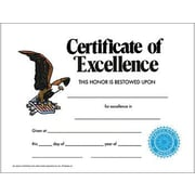 "Hayes® Certificate of Excellence, 8.5""(L) x 11""(W)"