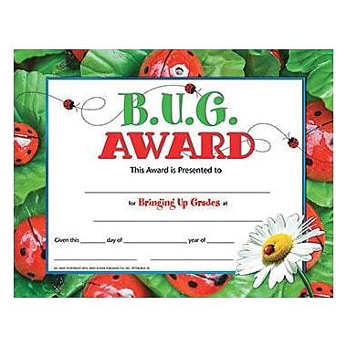 Hayes B.u.g. Award Certificate, 8.5