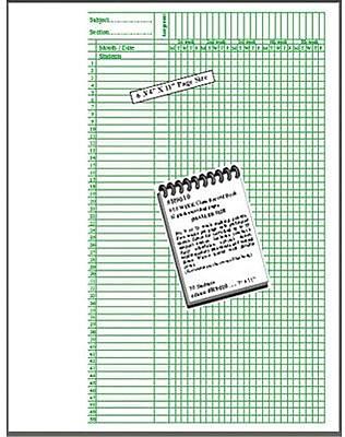 Elan Publishing Class Record Book, 50 Names, 3 EA/BD