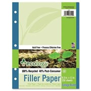 "Pacon® College Ruled Ecology Filler Paper, 11"" x 8 1/2"""