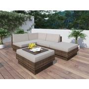 Sonax™ – Ensembles de meubles de patio Park Terrace, brun, tressé