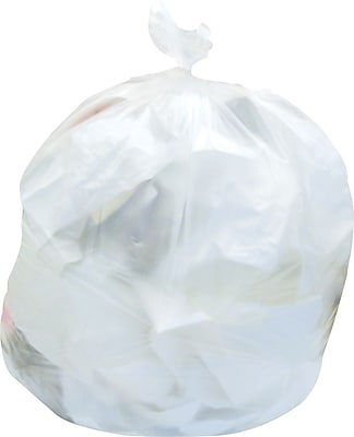 Brighton Professional, Trash Bags, 8-10 Gallon, 24x24, High Density, 8 Mic, Natural, 1000 CT, 20 rolls of 50 bags per roll