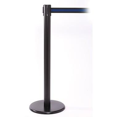 QPro 250 Black Retractable Belt Barriers with Belt