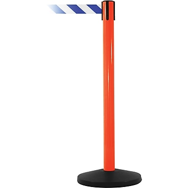 SafetyMaster 450 Orange Retractable Belt Barrier with 8.5' Blue/White Belt