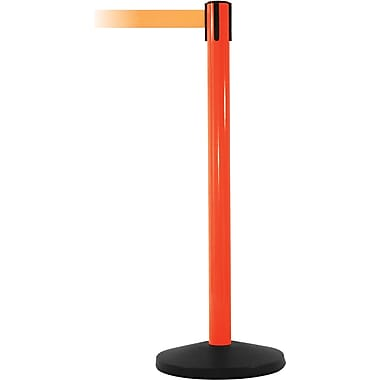 SafetyMaster 450 Orange Stanchion Barrier Post with Retractable 8.5' Orange Belt
