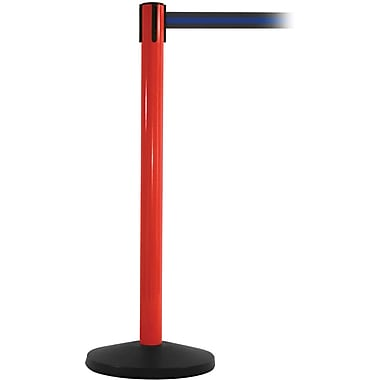 SafetyMaster 450 Red Retractable Belt Barrier with 8.5' Black/Blue Belt