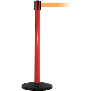 SafetyMaster 450 Red Retractable Belt Barrier with 8.5' Orange Belt