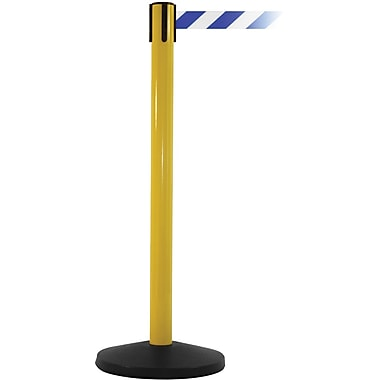 SafetyMaster 450 Yellow Retractable Belt Barrier with 8.5' Blue/White Belt