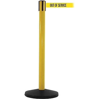 SafetyMaster 450 Yellow Retractable Belt Barrier with 8.5' Yellow/Black OUT OF SERV Belt