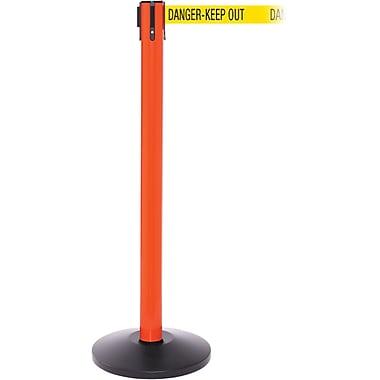 SafetyPro 250 Orange Retractable Belt Barrier with 11' Yellow/Black DANGER Belt