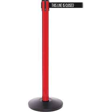 SafetyPro 250 Red/Orange Retractable Belt Barrier with 11' Black/White LINE Belt