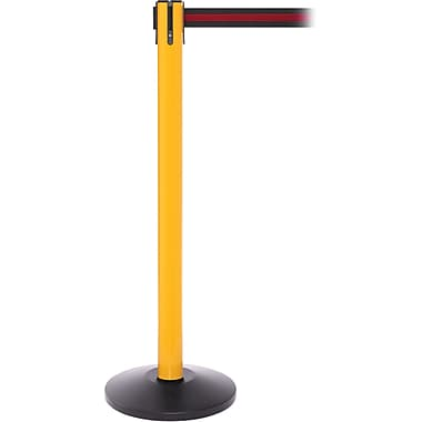 SafetyPro 250 Yellow Retractable Belt Barrier with 11' Black/Red Belt