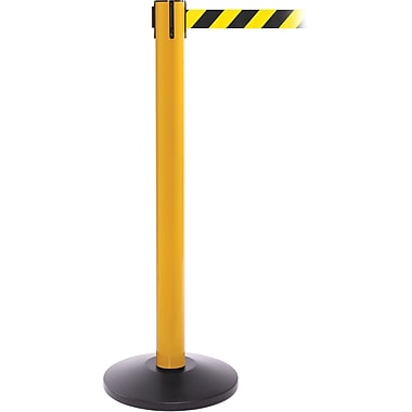 SafetyPro 300 Yellow Retractable Belt Barrier with 16' Black/Yellow Belt