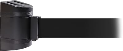 WallPro 300 Black Wall Mount Belt Barrier with 13' Black Belt