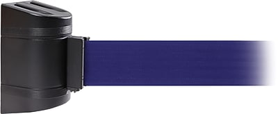 WallPro 300 Black Wall Mount Belt Barrier with 10' Blue Belt