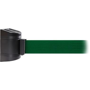 WallPro 300 Black Wall Mount Belt Barrier with 13' Green Belt