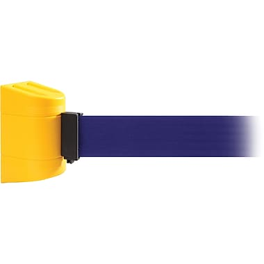 WallPro 300 Yellow Wall Mount Belt Barrier with 10' Blue Belt