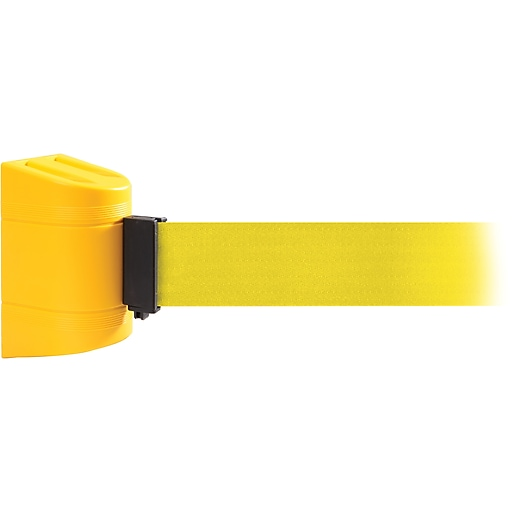 WallPro 300 Yellow Wall Mount Belt Barrier with 10' Yellow Belt
