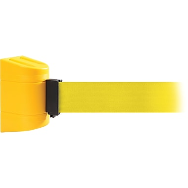 WallPro 450 Yellow Wall Mount Belt Barrier with 15' Yellow Belt