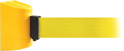 WallPro 450 Yellow Wall Mount Belt Barrier with 30' Yellow Belt