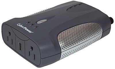 Cyberpower® 400 W Mobile Power Inverter, 12 VDC Input, 120 VAC Output, 2 Outlets