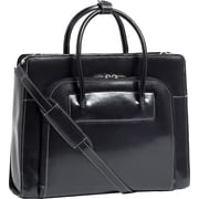 "McKlein® Lake Forest W Series 15.4"" Ladies' Briefcase With Removable Sleeve, Black"