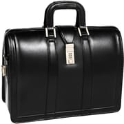 McKlein V Series, MORGAN, Top Grain Cowhide Leather,Litigator Laptop Briefcase, Black (83345)