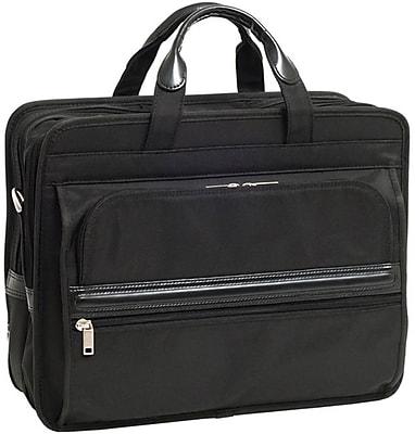 McKlein Elston, Nylon Double Compartment Laptop Briefcase, Tech-Lite Ballistic Nylon, Black (56485)