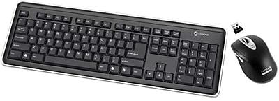 Buslink® i-Rocks RF-6577L Wireless Keyboard and Laser Mouse, Black