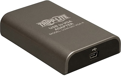Tripp Lite U244-001-VGA-R 3' USB to VGA Adapter, Black