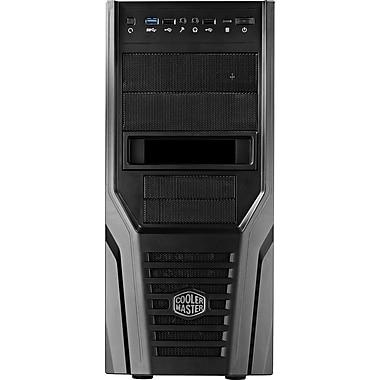 Cooler Master® Mid Tower Elite 431 Plus System Cabinet, Full Black