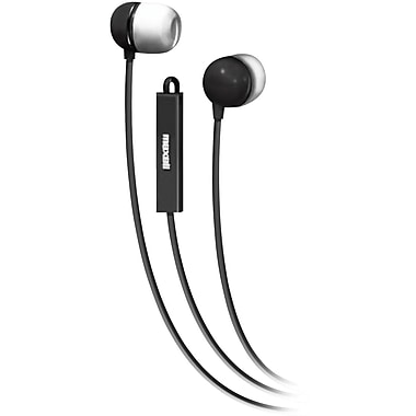 Maxell 190300WM Stereo In-Ear Earbud with Mic and Remote, Black