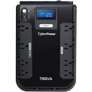 CyberPower CP750LCD 750VA 420W UPS Battery Backup & Surge Protector with 8 outlets & LCD Screen