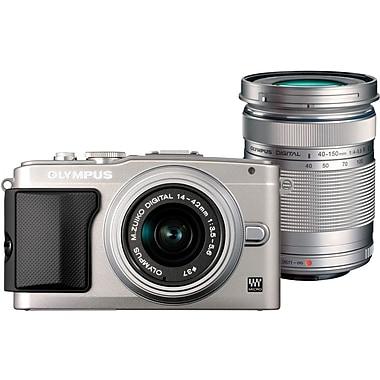 Olympus E-PL5 16 MP Digital Camera, Silver, (11196688)