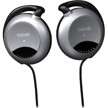 Maxell MXLECHP Stereo Ear-Clip Headphone, Gray/Black