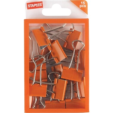 Staples® Small Binder Clips, 15ct