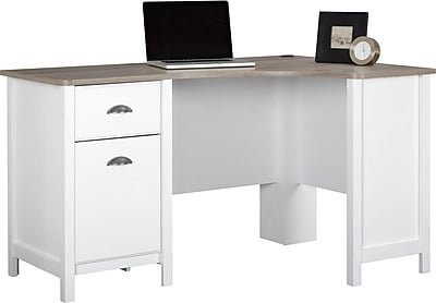 Ameriwood 174 Dover Desk Federal White Sonoma Oak Staples