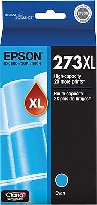 Epson 273XL Cyan Ink Cartridge (T273XL220-S), High Yield