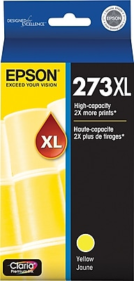 Epson 273XL Yellow Ink Cartridge (T273XL420-S), High Yield