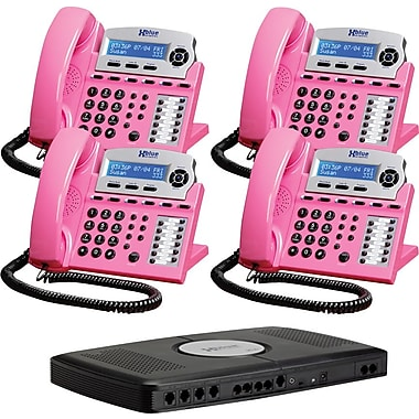 XBlue X16 Small Office Telephone System, 4pk - Pink