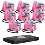 XBlue X16 Small Office Telephone System, 8pk - Pink