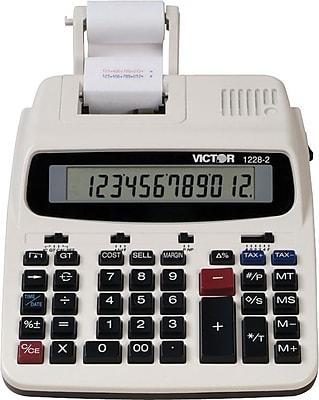 Victor® 1228-2 12-Digit Printing Calculator