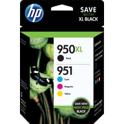 HP 950XL High Yield Black/951 Standard Tri-Color (C2P01FN140) Inkjet Cartridge Multi-pack (4 cart per pack)